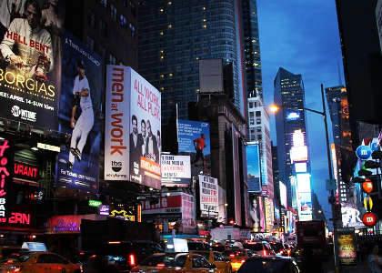 vista de Broadway, Nueva York